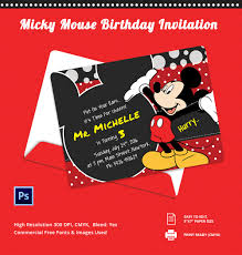 mickey mouse invitation templates sample example customisable micky mouse birthday invitation template