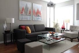 living room furniture spaces inspired: interior ideas gorgeous modern couches for small spaces by gray and white sofa with glass table on the white fur rug combined with pictures on th