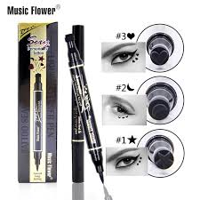 <b>Music Flower Sexy Tattoo</b> Liquid Eyeliner Pencil Black Eyelid ...