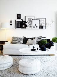 black white home interior design for small apartments ideas with modern round plastic tea table design beautiful home interior furniture