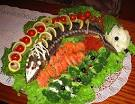 Как красиво украсить рыбу на блюде фото