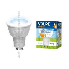 <b>Лампа</b> светодиодная <b>Volpe</b> (09908) <b>GU10 5W</b> 4500K <b>JCDR</b> ...