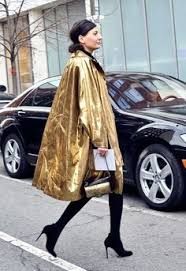 street style lady metal golden