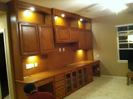 home office cabinets with built in display and task lighting built office cabinets home