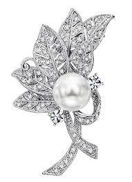 Neoglory Jewelry Platinum Plated White Natural-Pearl ... - Amazon.com