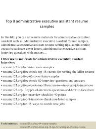 topadministrativeexecutiveassistantresumesamples lva app thumbnail jpg cb