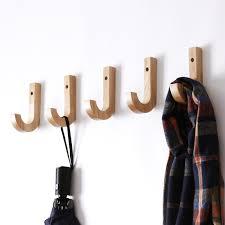 <b>Wall Solid Wood Hook</b> Originality Wooden Coat Hook Oak Clothes ...