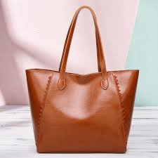 Fashion Casual Women's Retro Handbag <b>Large</b>-<b>capacity Solid</b> ...