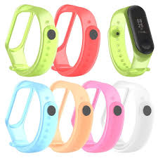 Colorful Clear <b>Replacement Silicone Wrist Strap</b> Watch Band For ...