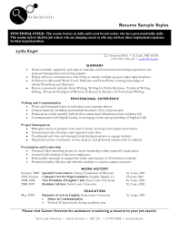 best resume styles examples for your job com styles resume sample 2016 liz chaine middot resume styles summary and professional experience