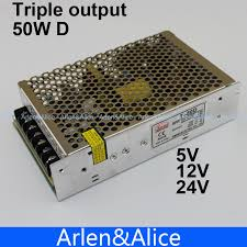 T 50W D Triple output 5V <b>12V 24V Switching power supply smps</b> AC ...