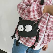 funny cute small bag tide korean version all matched messenger canvas shoulder soft sister carrot shape