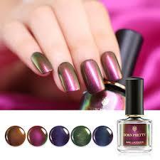 <b>BORN PRETTY 6ml Chameleon</b> Nail Polish Glitter Shimmer Nail Art ...