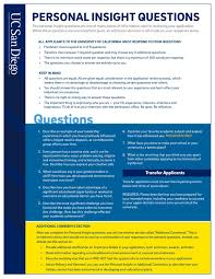 personal insight questions by uc san diego admissions issuu