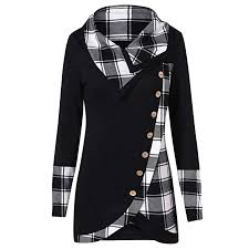 turtleneck fashion blouse women shirt