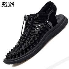 <b>Summer</b> Men's Sandals <b>Fashion Handmade</b> Weaving Design ...