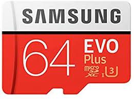 <b>Samsung EVO</b> Plus 64GB microSDXC UHS-I U3 <b>Memory</b> Card with ...