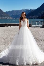 Spaghetti Straps Long Princess <b>White Tulle Wedding</b> Dress