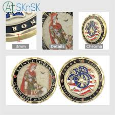 Online Shop <b>1pcs</b>/<b>lot New</b> custom <b>commemorate</b> medals Saint ...