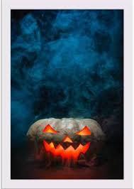 Artzfolio Smoking <b>Halloween Pumpkin</b> Framed Art <b>Print Digital</b> ...