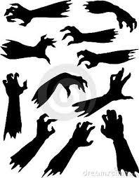 Scary <b>zombie hands</b> silhouettes set. | Zombie <b>halloween</b>, <b>Halloween</b> ...