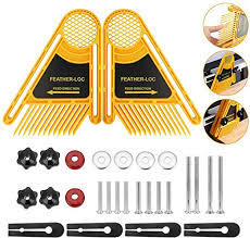 BUZIFU 2 Pack <b>Featherboard</b> Double <b>Feather Loc Board</b> Adjustable ...