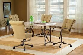 dining table with wheels: kitchen kitchen chairs with casters chromcraft dinette chairs dining room chairs with wheels
