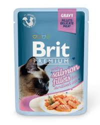 <b>Brit паучи Premium</b> для стерилизованных кошек: кусочки из филе ...