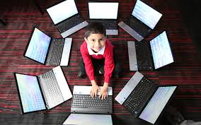 Image result for person looking at multiple windows on computer