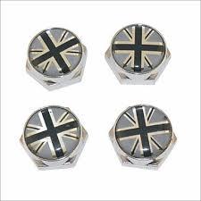 <b>DIY</b> British Flag Pattern <b>Universal</b> Metal License Plate Bolt Screw ...