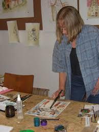 Heidi Drescher - Aquarellmalerei - über mich - Malen%20im%20Gemeinschaftsatelier