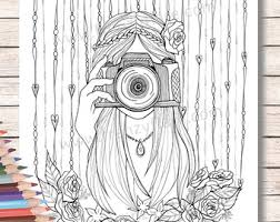 Small Picture Printed Coloring Pages for Adults or kids Beautiful Girl with