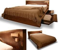 rustic modern comfortable wooden bed frame design bed designs wooden bed