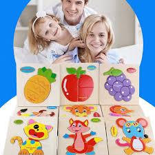 Early <b>Childhood</b> Educational <b>Puzzles</b> Baby <b>Wooden</b> Animal Traffic ...