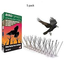 <b>5PCS</b> 50CM Eco-friendly <b>Stainless</b> Steel <b>Bird</b> Spikes Anti <b>Pigeon</b> ...