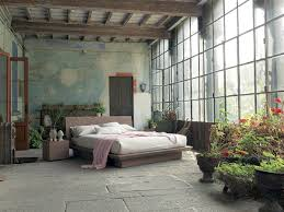 modern bedroom concepts: view in gallery rustic bedroom design with a distressed wall fimar