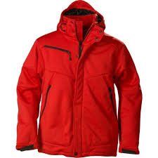 <b>Куртка софтшелл мужская Skeleton</b>, красная под нанесение ...