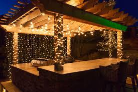 deck lighting ideas to hang patio lights white mini lights and wrap columns backyard string lighting ideas