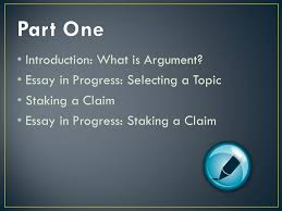 claim of fact essay topics from reading to writing introduction what is argument essay in