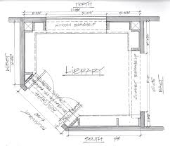 the floor plan of this small library the design problem was how to work with built home library