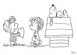 Small Picture Charlie Brown Valentines Day coloring page Free Printable