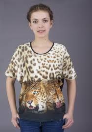 Кофта Леопард Короткий рукав 3-104 купить по цене от 150.00