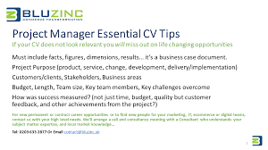 project manager essential cv interview tips view larger image digital project manager cv tips