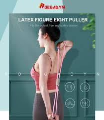 ROEGADYN <b>8 Word Chest Expander</b> Rope Elastic Fitness Gum ...