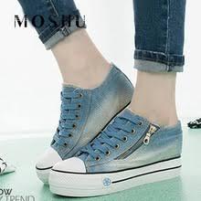 Модные <b>женские кроссовки из</b> джинсовой ткани, <b>удобные</b> ...