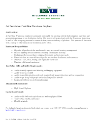 best photos of employee job description sample resume warehouse employee job description