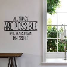 possible things wall decals office proven impossible contemporary quotations green tree inspirational motivation artwork for office walls