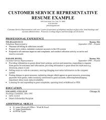 Resume Examples  Customer Service Representative Resume Objective Example With Professional Experience As Telephone Representative And