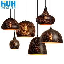 Buy <b>vintage metal iron pendant</b> lamp black and get free shipping on ...