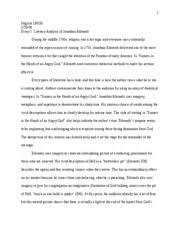 final essay literary analysis edwards    english h   final essay literary analysis edwards    english h  essay
